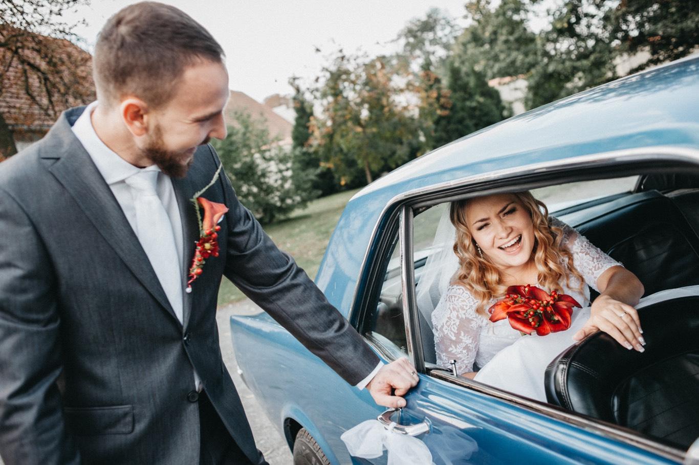 Momentka ze svatby