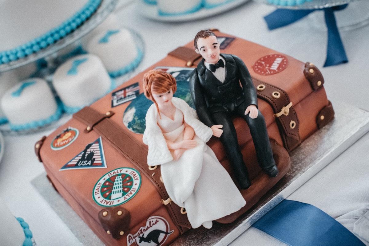 Svatební dort pro cestovatele