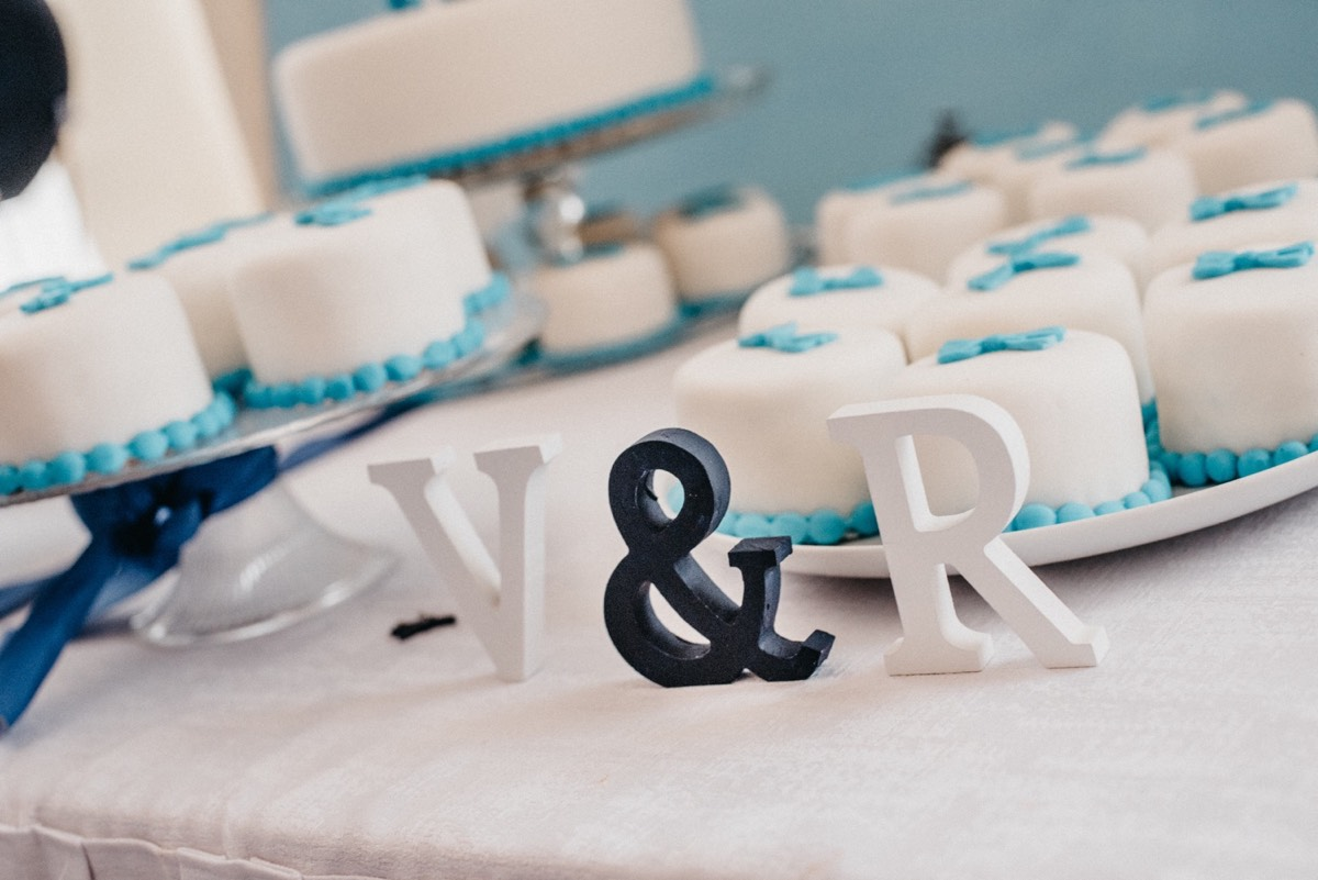 Svatební dekorace - iniciály