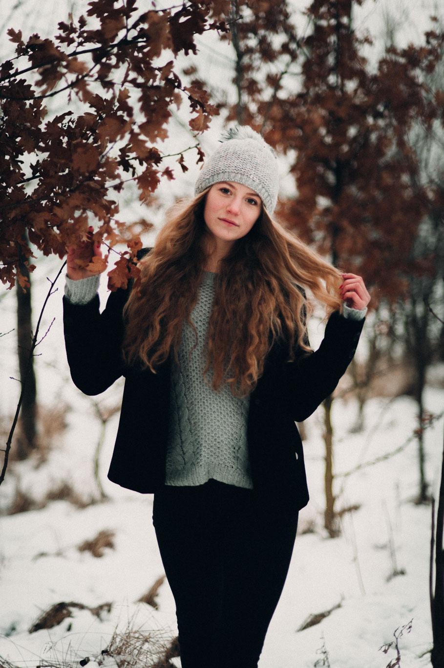 Portrétní fotografie v zimě