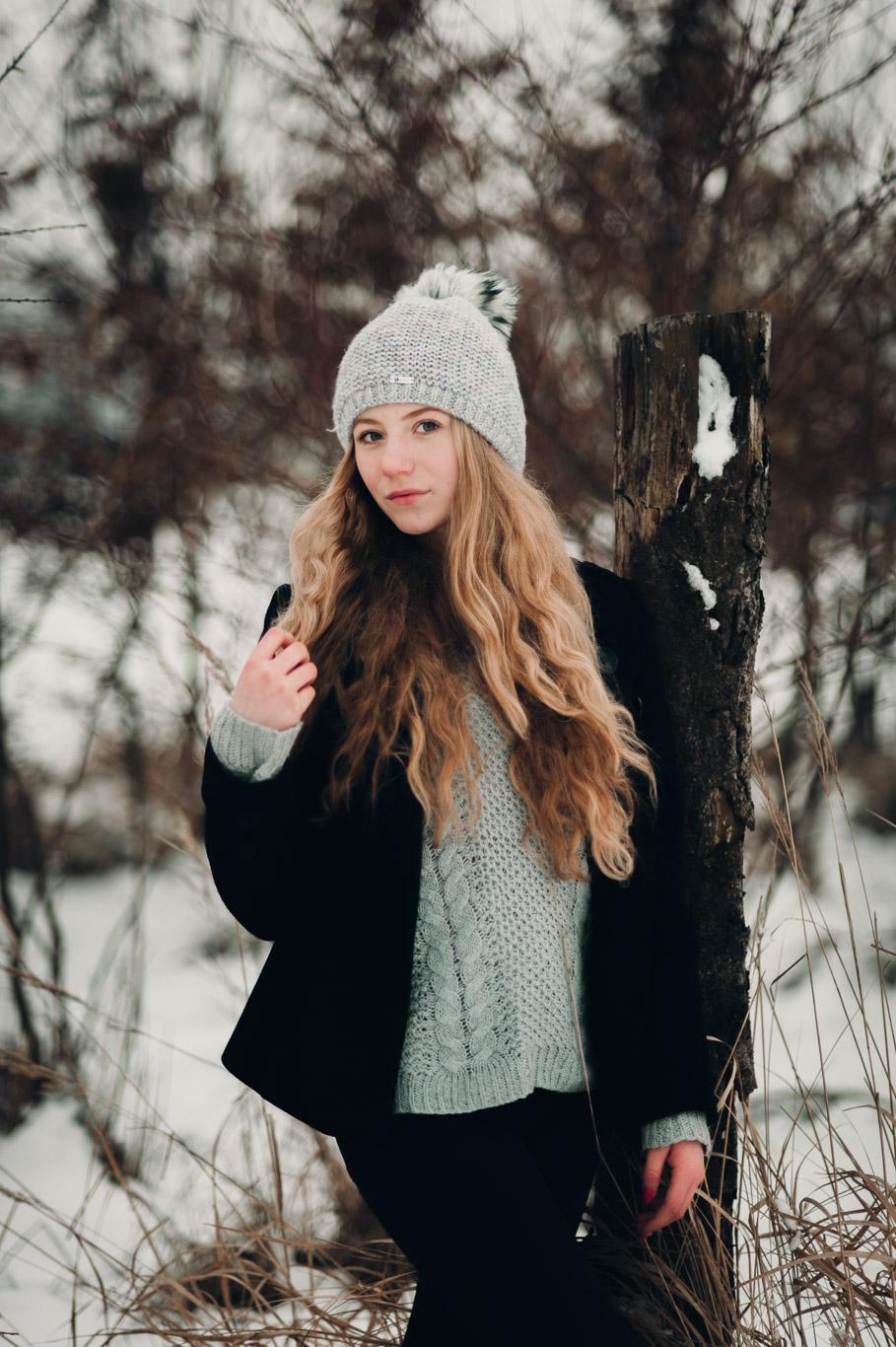 Zimní portrétní focení s Eliškou 1