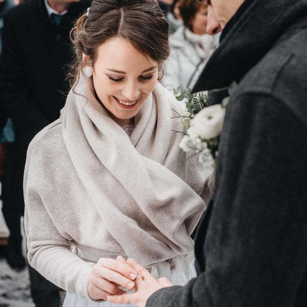 Zimní svatební fotografie ze Štramberku 32
