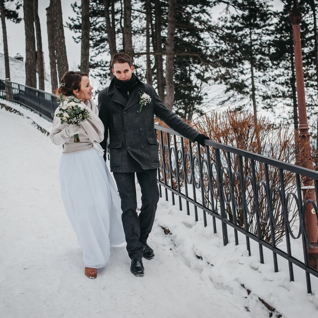 Zimní svatební fotografie ze Štramberku 18