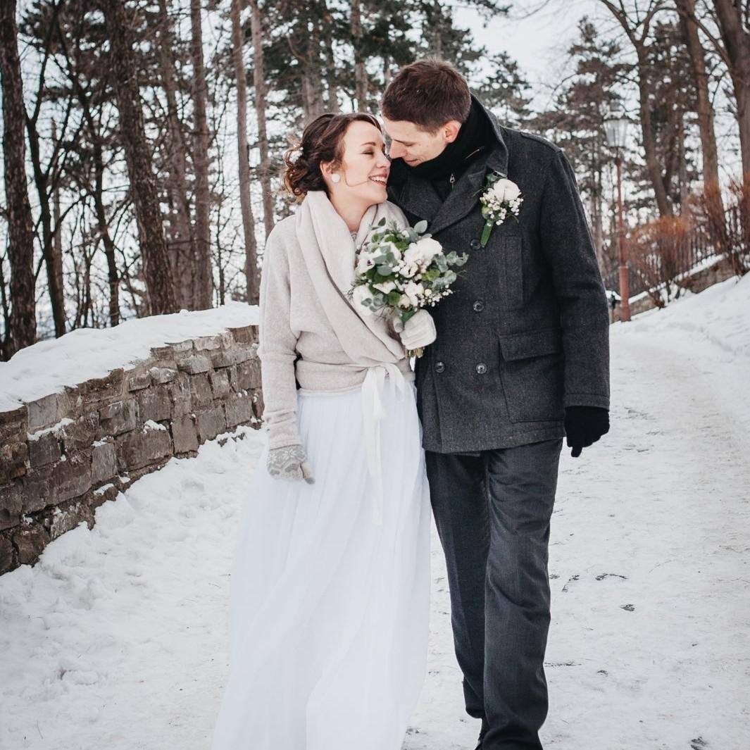 Zimní svatební fotografie ze Štramberku 11