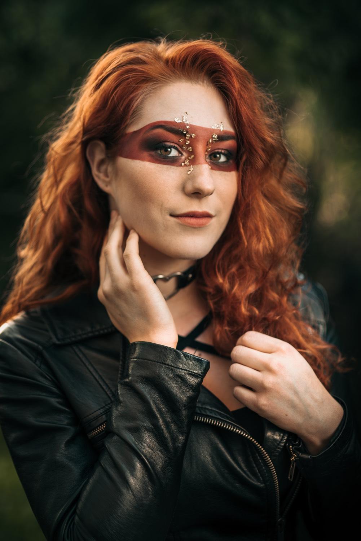 Fotografie portrétní (Jan Lipina) s make-upem od Kláry Gojové, modelka Kristýna Benešová