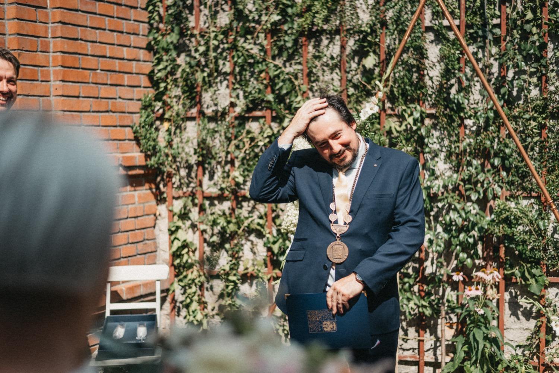 Vladimír Polák oddávající v Hogo Fogo Bistru